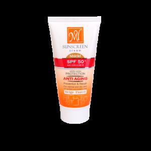 کرم ضد آفتاب رنگ بژ SPF50 مای