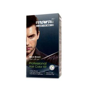 کیت رنگ موی مردانه قهوه ای مشکی مارال